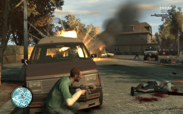 GTA 4 PC: With Post Processing Blur and Bloom effects are cast over the