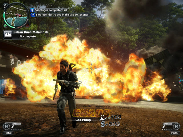 Just Cause 2 maxed out visual quality