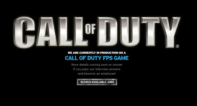 call of duty 8. Call of Duty 8: Webseite der