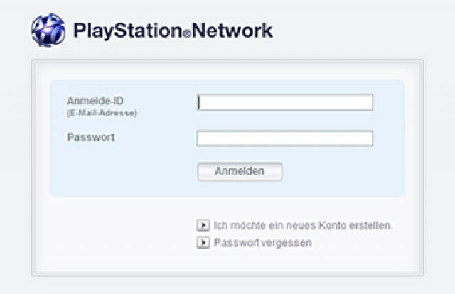 PSN-Passwort ändern - PSN-Passwort vergessen - Ein Fehler