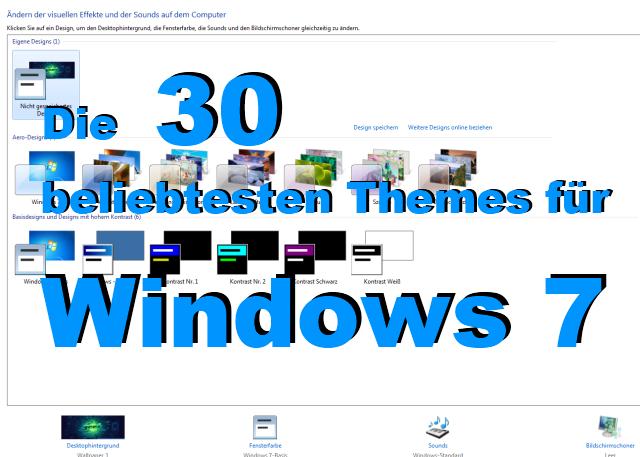 windows 7 themes die 30 beliebtesten designs f r ihr. Black Bedroom Furniture Sets. Home Design Ideas