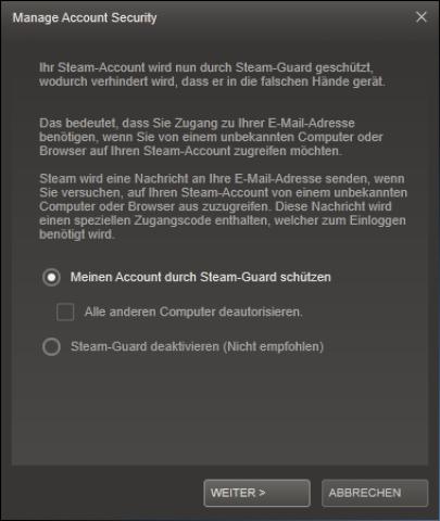 steam passwort ndern oder passwort vergessen steam guard nutzen. Black Bedroom Furniture Sets. Home Design Ideas