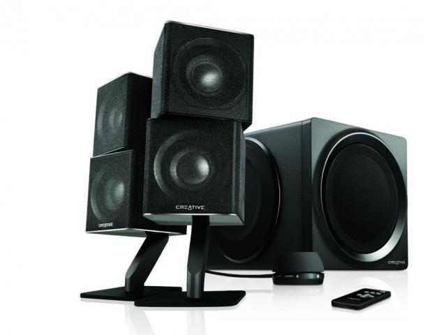 creative t6 series ii kabellose 2 1 lautsprecher f r. Black Bedroom Furniture Sets. Home Design Ideas