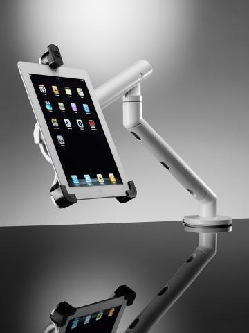 cbs flo dynamic teleskop tisch halterung f r ipad 4 und co. Black Bedroom Furniture Sets. Home Design Ideas