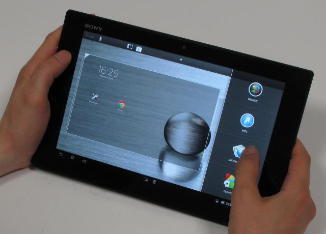 sony xperia tablet z im hands on test wasserfeste 10. Black Bedroom Furniture Sets. Home Design Ideas