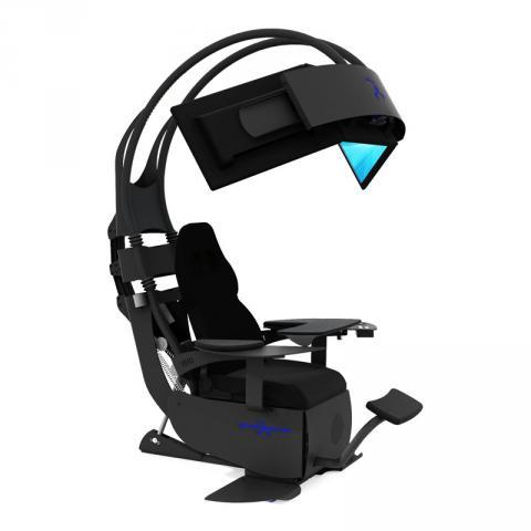 Gamer zimmer 6 bildschirme  MWE Lab Emperor Chair 1510: Einstellbarer Sessel mit Soundsystem ...