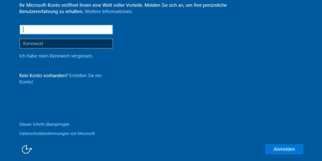 Windows 8 Installation: So überspringen Sie das Microsoft-Konto
