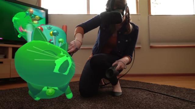 fantastic contraption surreales vr puzzle spiel im mixed reality video. Black Bedroom Furniture Sets. Home Design Ideas