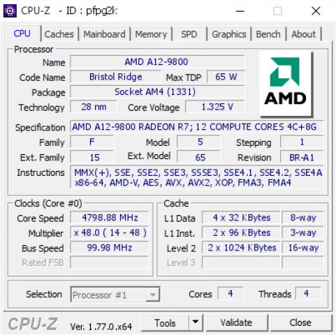 AMD A12 9800 Auf Hwbot Mit Wraith Kuhler Auf 48 GHz