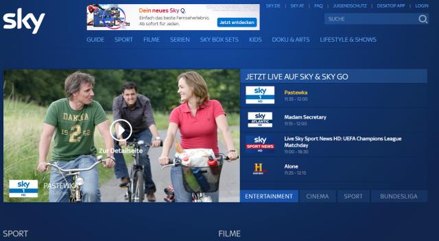 Sky Go Browser Version