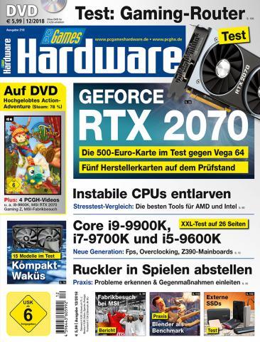 PCGH 12/2018 (#218): RTX 2070 - 5 Herstellerkarten im Test