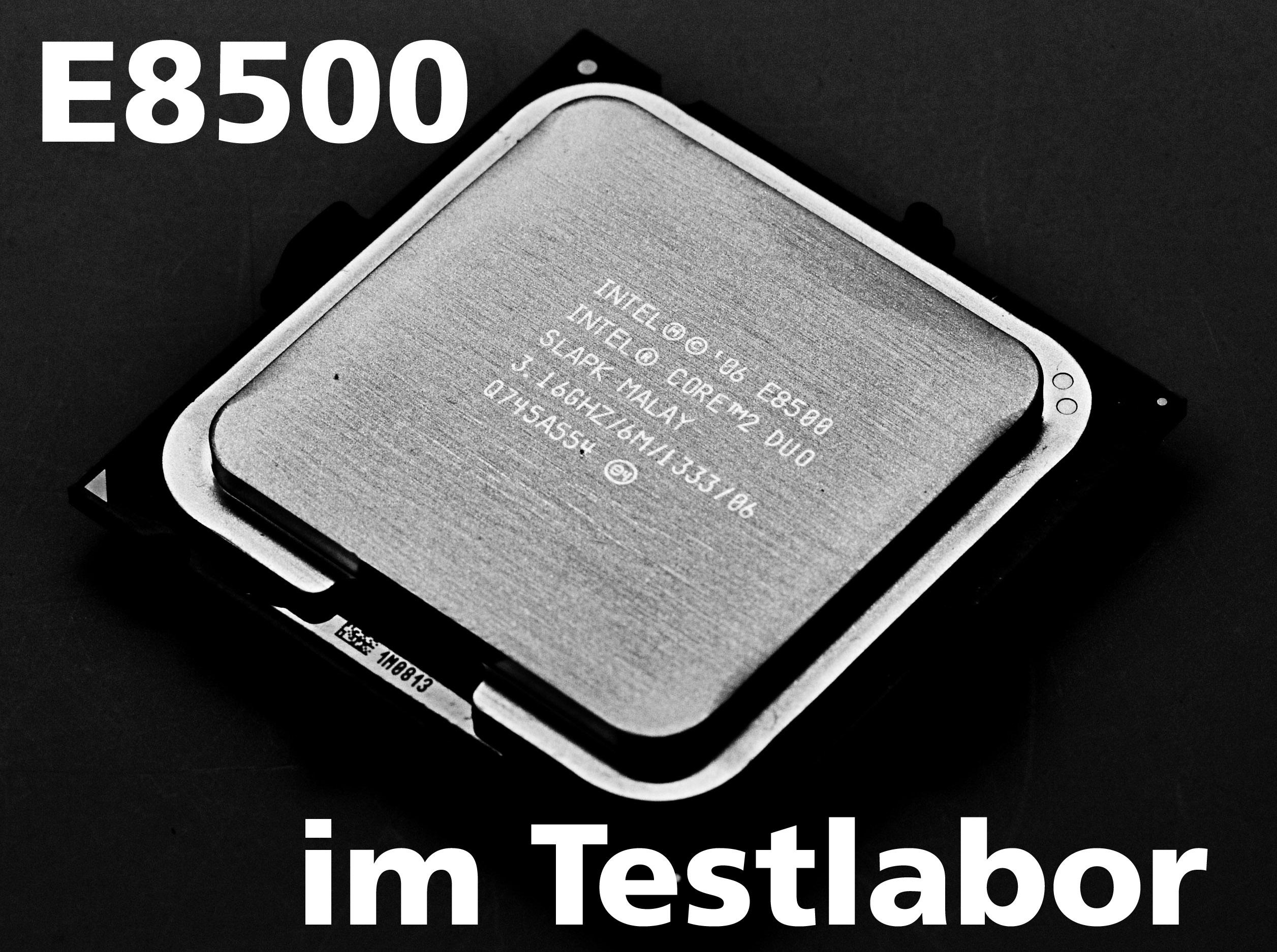 Neu Im Pcgh Test Labor Core 2 Duo E8500 In Der Retailversion Prosesor