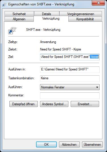 NFS Shift: Mods benötigen den