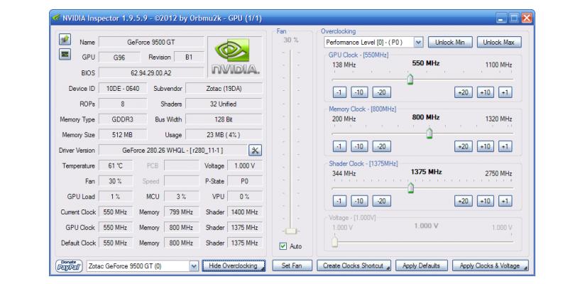 Nvidia Inspector zum Download: Version 1 9 7 8