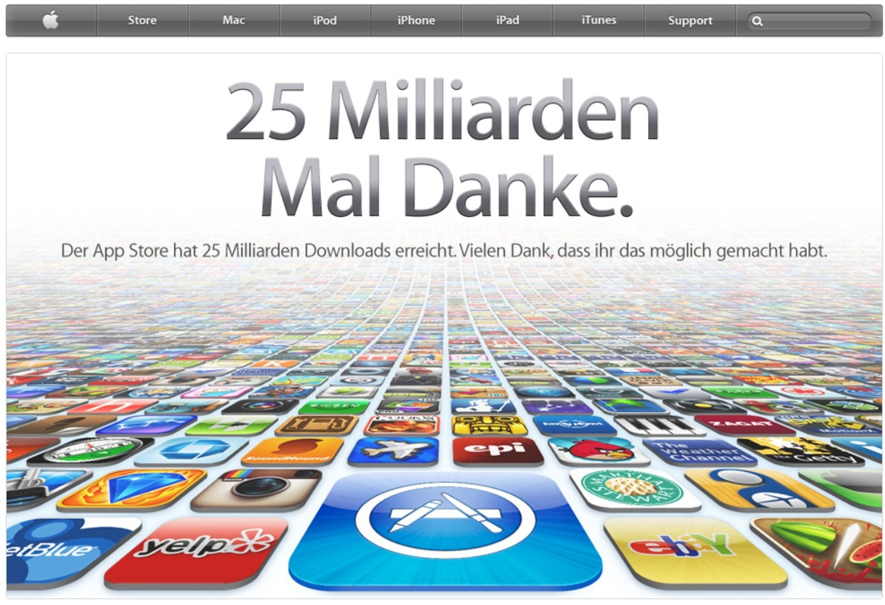 25 milliarden downloads über den app store quelle apple nachdem zuvor