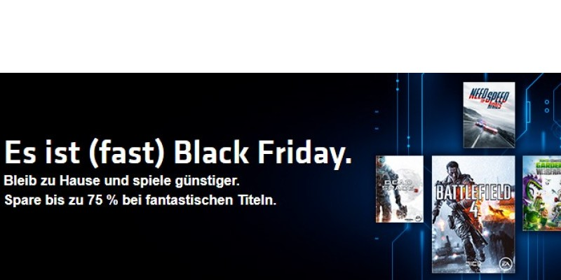 Origin: Electronic Arts startet Black-Friday-Sale mit heftigen Rabatten