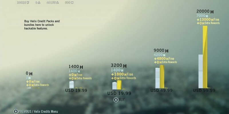 20.000 Helix Credits kosten in Assassin's Creed Unity 99,99 US-Dollar.
