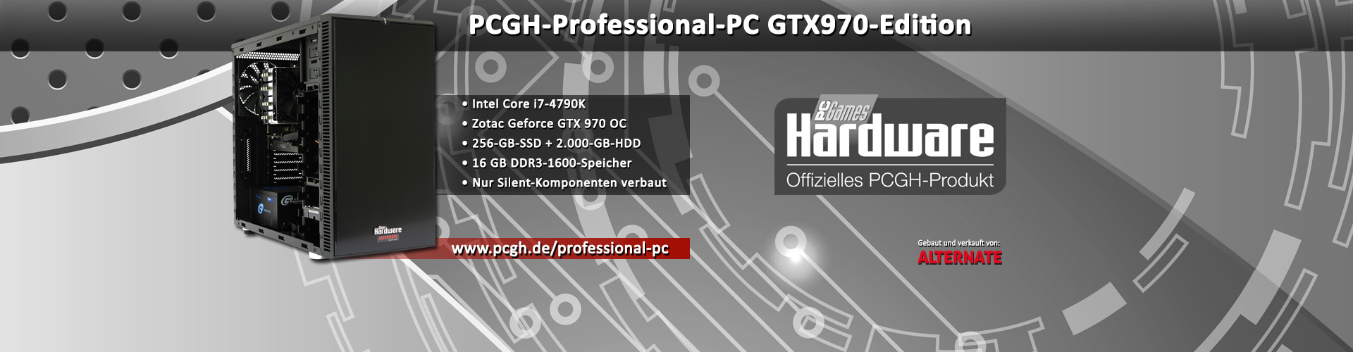 PCGH-Professional-PC GTX970-Edition: Core i7-4790K + Geforce GTX 970 [Anzeige]