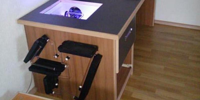 Pc Desk No 47 Ein Tisch Mit Beleuchteter Pc Schublade Und Fünf