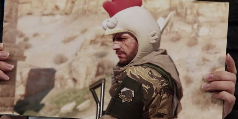 Snake als feiges Hühnchen in Metal Gear Solid 5: The Phantom Pain.