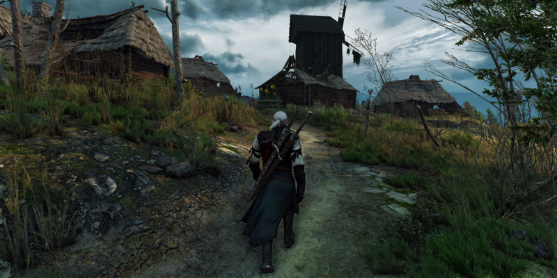 The Witcher 3 Wild Hunt War ravaged these lands nobody lives here anymore
