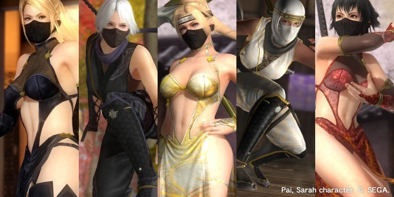 Dead or Alive 5 Variety Costume Set  2