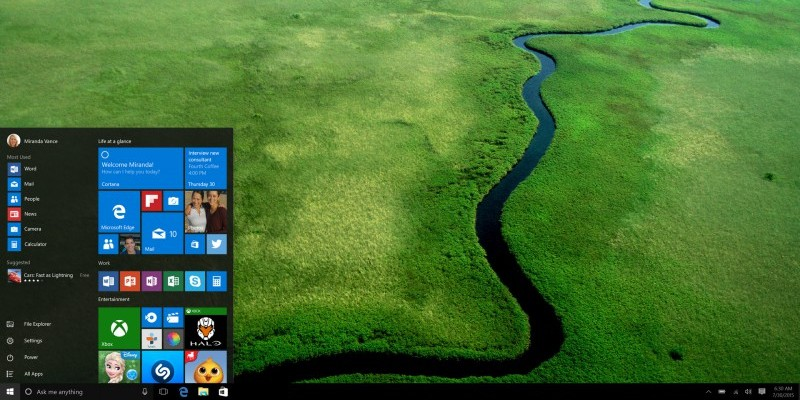 Windows 10: Screenshot zeigt angeblichen RTM-Build 10240 (2)