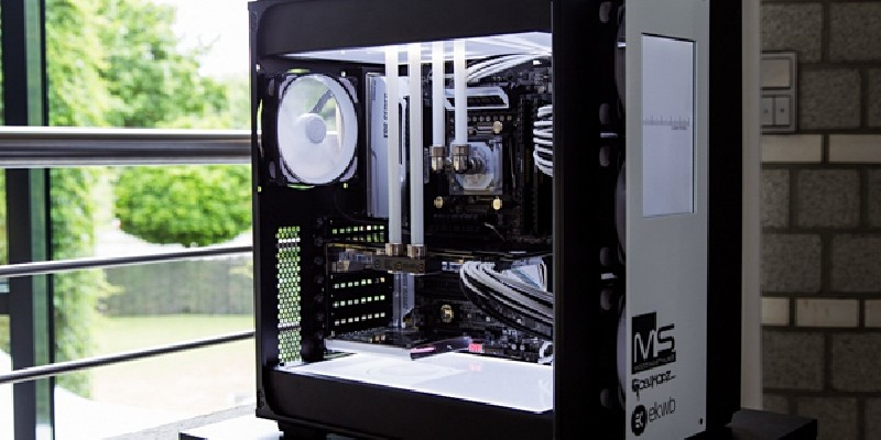 White99: Edle Carbide-Air-540-Casemod in Schwarz-Weiß (42)