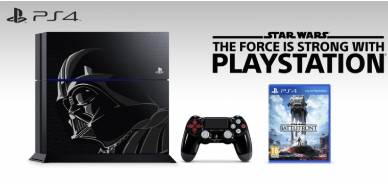 playstation 4 limited edition star wars bundles mit ps4 im darth vader design. Black Bedroom Furniture Sets. Home Design Ideas