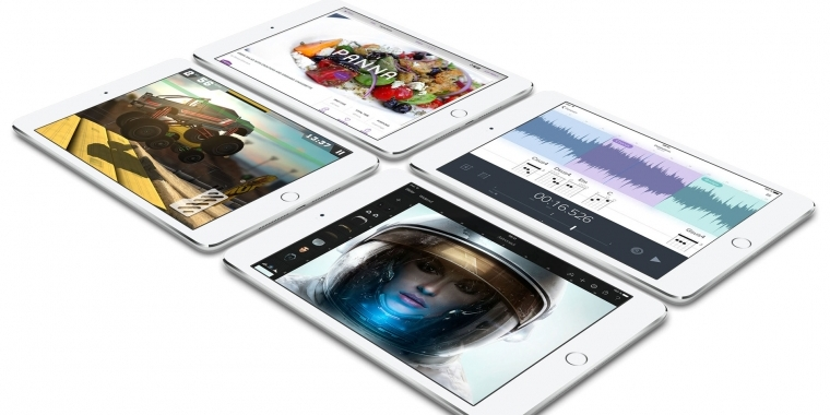 apple ipad pro als flaggschiff ipad mini 4 mit iphone 6. Black Bedroom Furniture Sets. Home Design Ideas