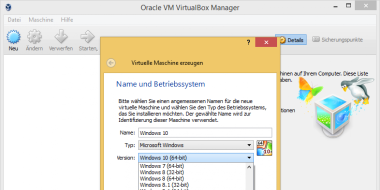Virtuelle maschine windows 10