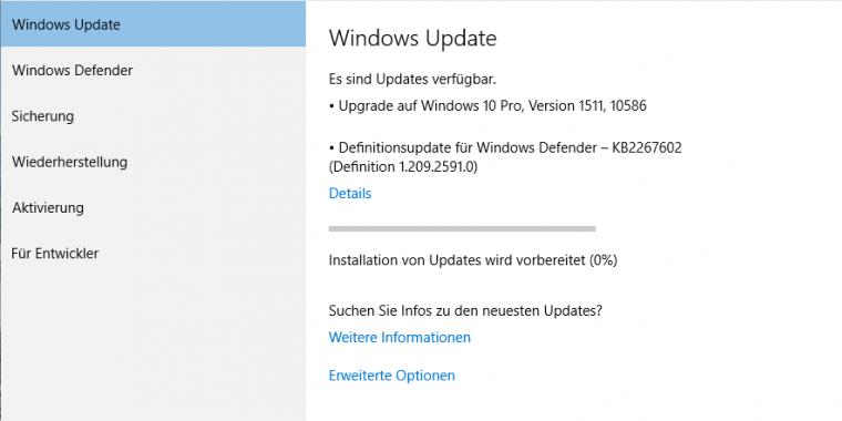 Windows 10 Update 1511: Nutzer berichten über Probleme mit Threshold 2