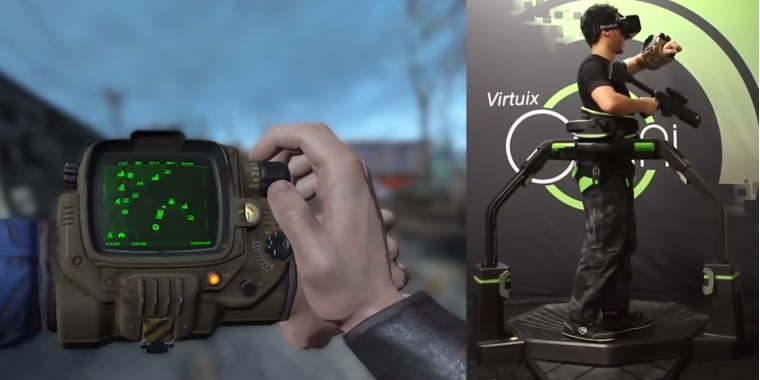 fallout 4 mit oculus rift und virtuix omni virtuell durchs dland laufen. Black Bedroom Furniture Sets. Home Design Ideas