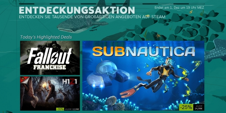 Steam Winter-Sale deutet sich an: Holiday-Sale-Karten im Umlauf