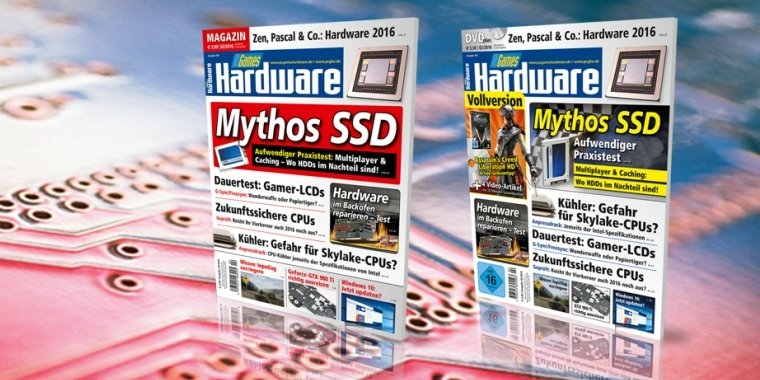 PCGH 02/2016: Mythos SSD: Caching und Multiplayer, zukunftssichere CPUs, Hardware heile backen + DVD-Vollversion Assassin's Creed: Liberation HD