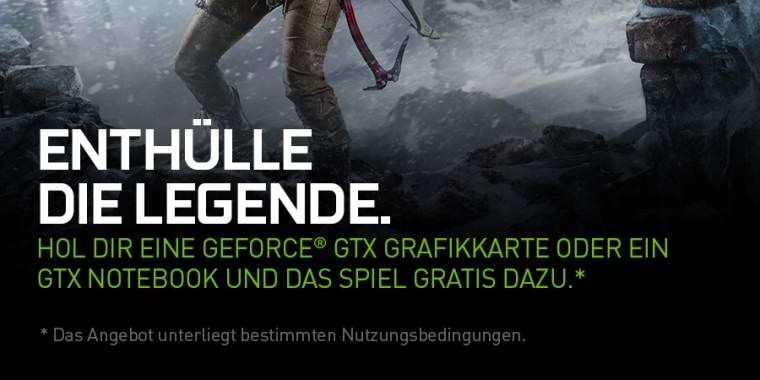 Rise of the Tomb Raider: Geforce-Bundle jetzt offiziell