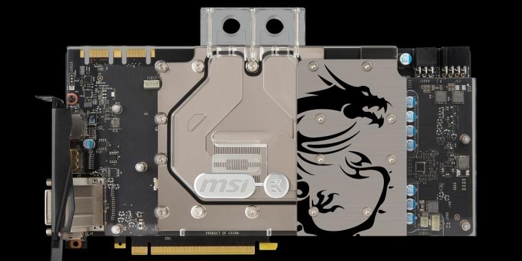 MSI Geforce GTX 1080 und GTX 1070: Sea Hawk EK X mit EKWB-Wasserkühlern
