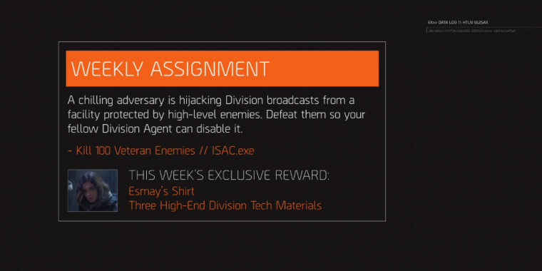 The Division: Operation ISAC 11 mit exklusivem Skin