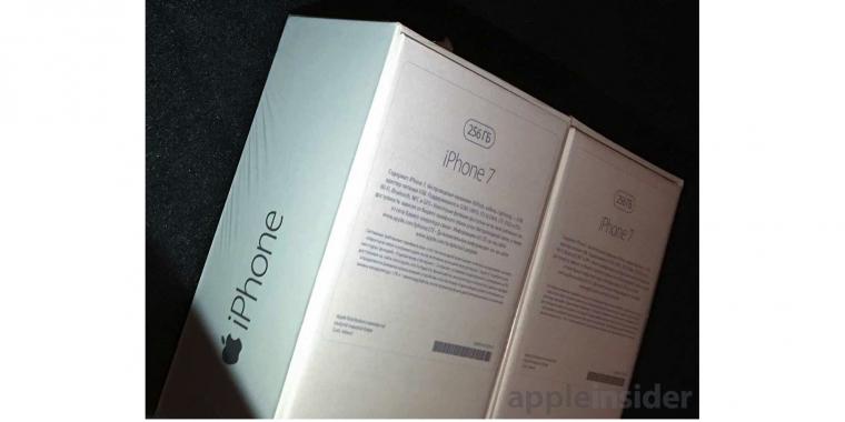 iphone 7 laut verpackung mit airpods und 256 gigabyte speicher. Black Bedroom Furniture Sets. Home Design Ideas