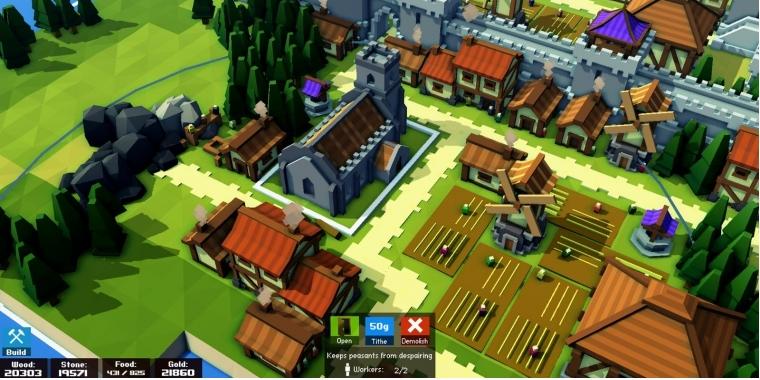 Kingdoms and Castles: Städtebausimulation im Mittelalter angekündigt