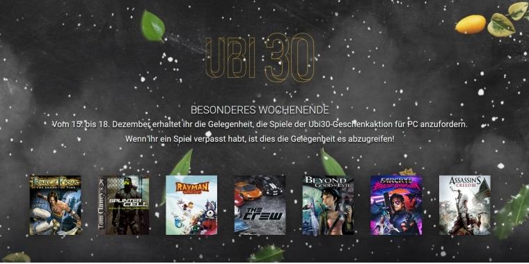 821b49db428864 Ubisoft verschenkt alle Spiele der Geburtstagsaktion erneut und startet  Winter-Sale