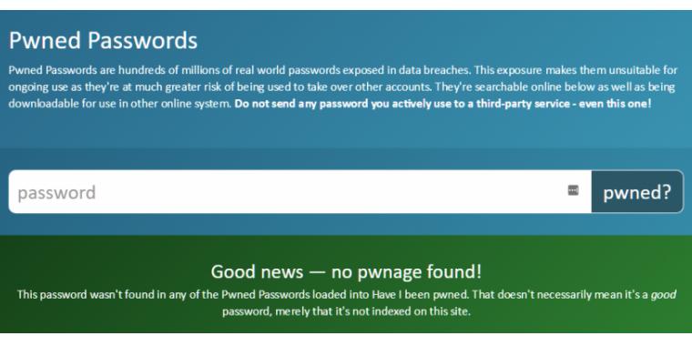 Pwned Passwords: Online-Prüfung für geknackte Passwörter