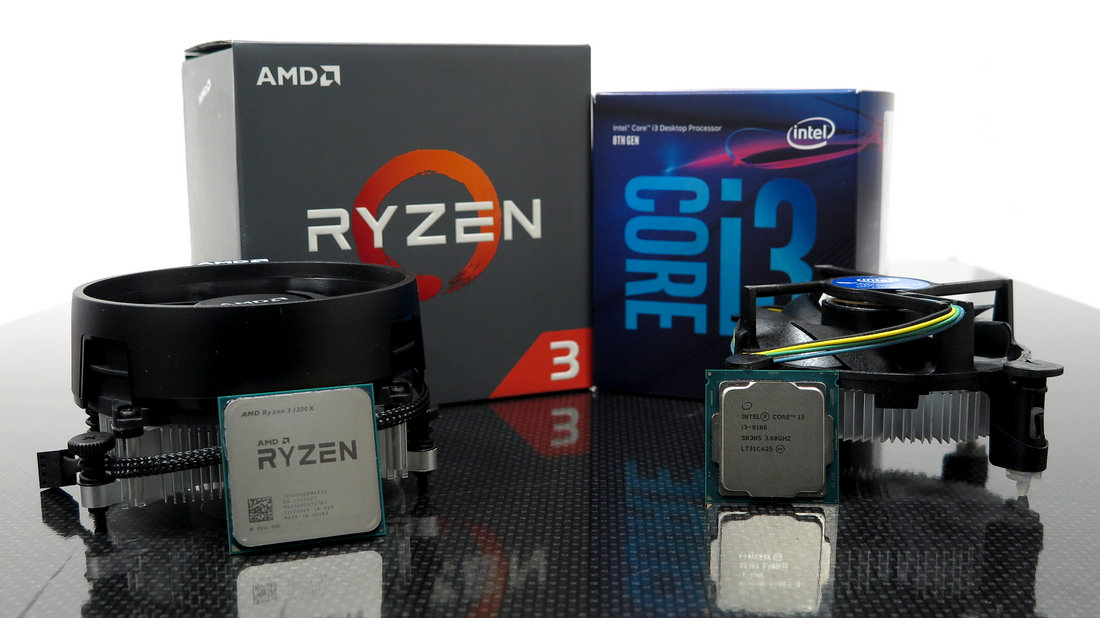 Intel Core i3-8100 vs AMD Ryzen 3 1300X im Test: Bester Quadcore bis
