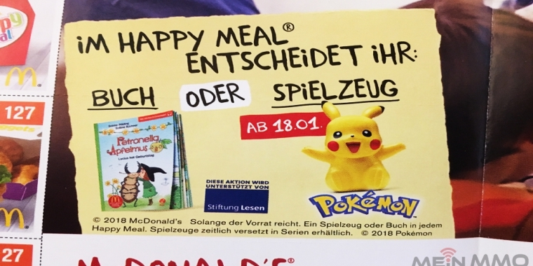 Pokémon Go: Pikachu bald im Happy Meal