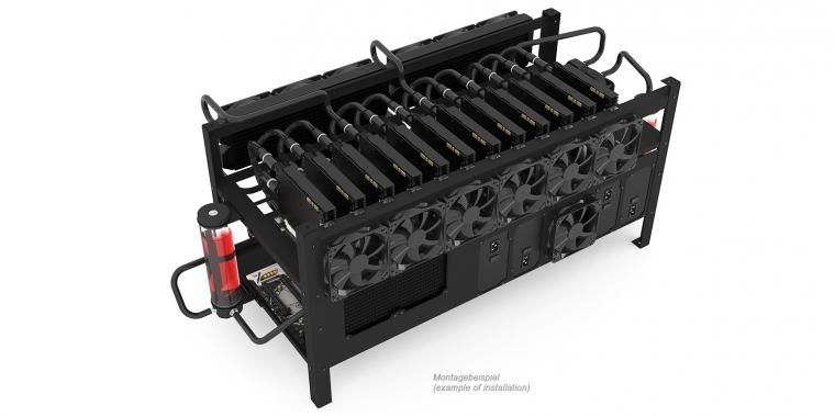 Alphacool Mining Rig 12: Offenes Gehäuse für zwei Mining-Systeme mit ...