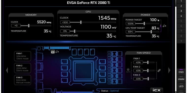 Evga Precision X1: Turing-Update mit mehr Funktionen und