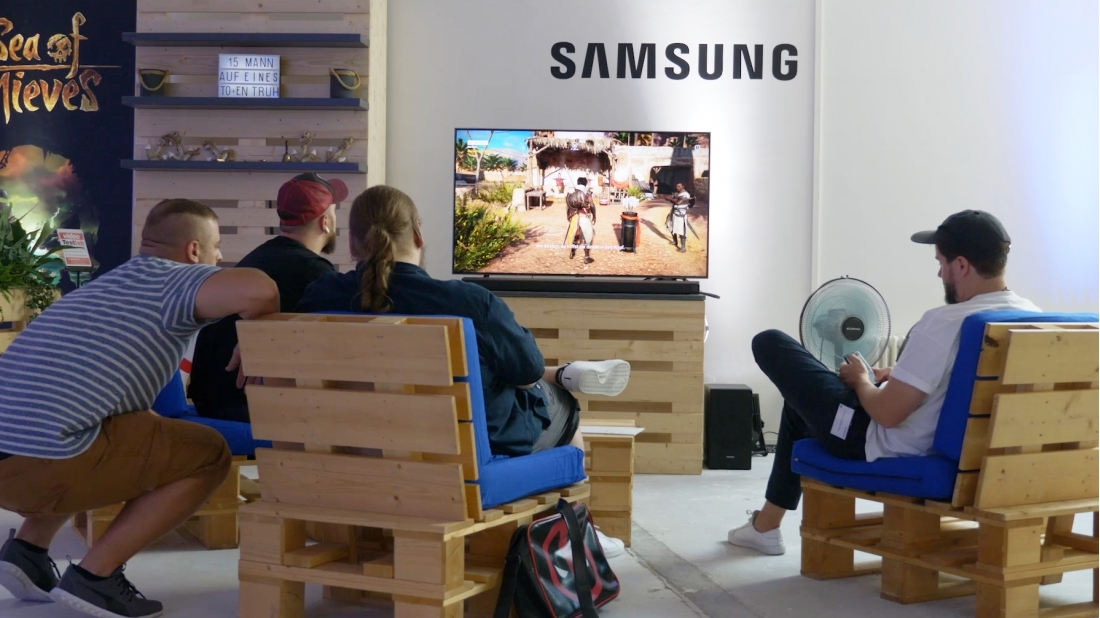Samsung Q9fn Im Test Kann Freesync Am Tv Uberzeugen