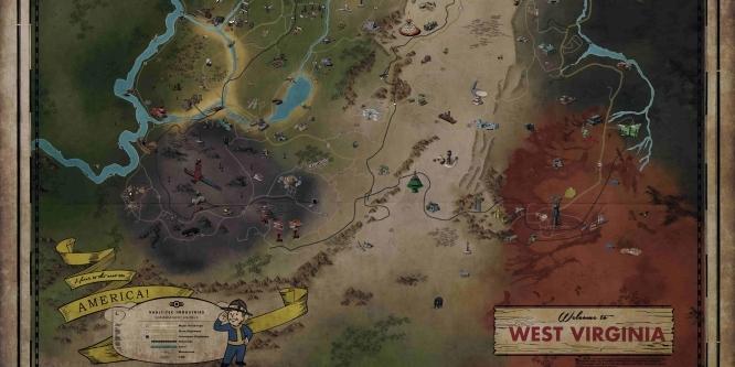Fallout 76 Karte Deutsch.Fallout 76 Karte Der Spielwelt Veroffentlicht