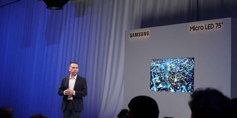 Samsung Micro Led Auf Der Ces 219 Zoll The Wall Und