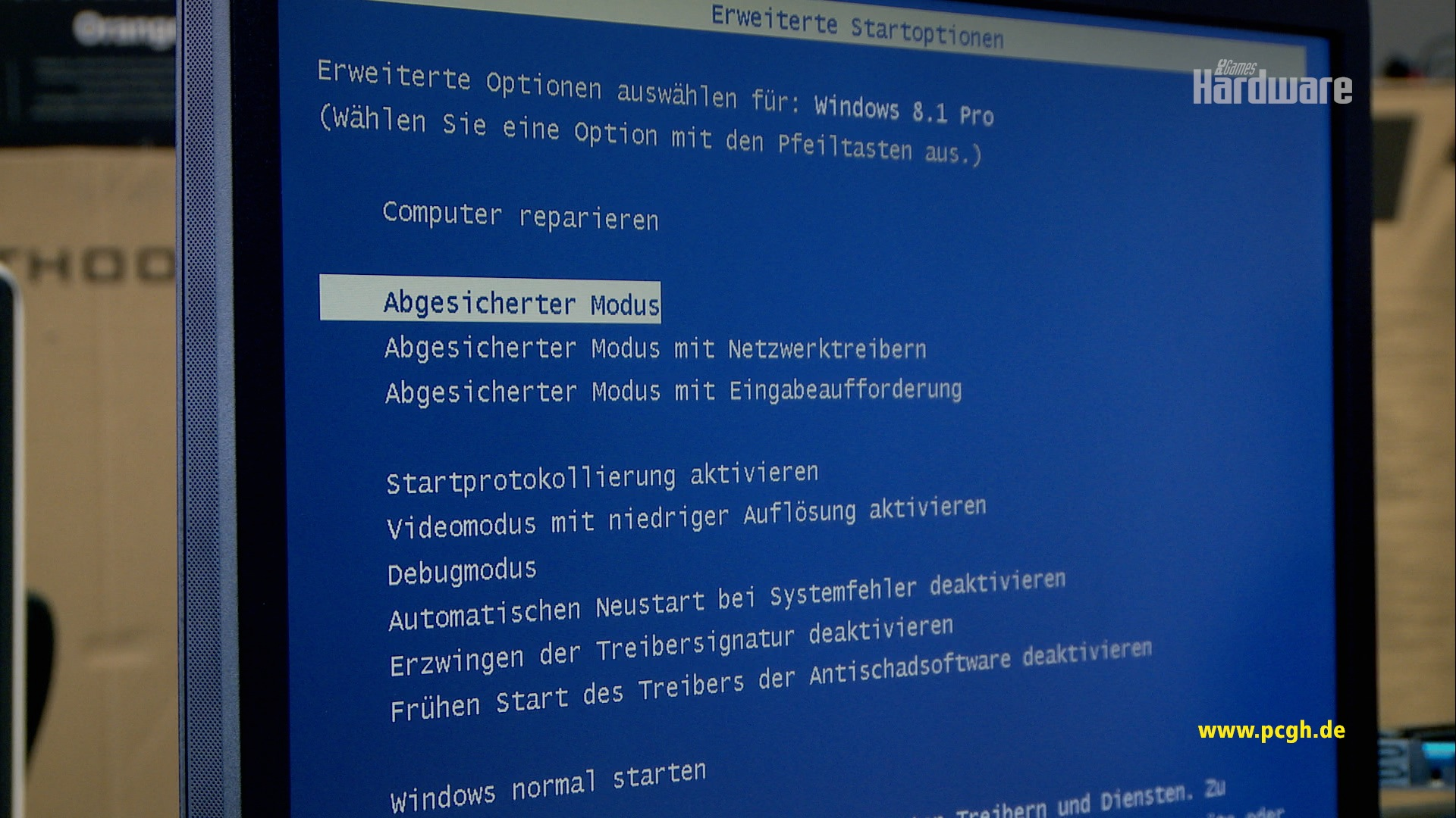 im abgesicherten modus starten windows 10